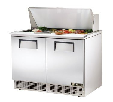 True TFP-48-18M Refrigerated Counter Mega Top Sandwhich Prep Table