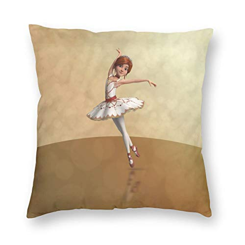 Top Headboard Roll Slipcover - ArthurBarros Ballerina Leap Wooden Cotton Velvet Double-Sided Printed Pillowcase (Without Pillow) 16