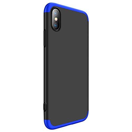 Zater Case for iPhone X/XS/XS Max/XR, 3 in 1 Hard Shell Hard PC Plastic Armor Back Ultra-Thin Cover (iPhone X, 7)