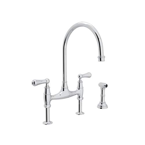 (Rohl U.4719L-APC-2 KITCHEN FAUCETS, Polished Chrome)