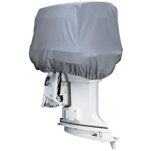 attwood Silver Coat Polyester Cover f/Outboard Motor Hood 50-115HP