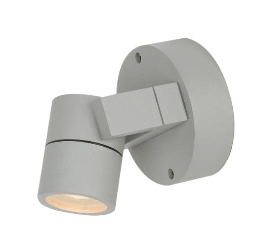 KO Marine Grade Wet Location LED Spotlight - Satin Finish - Clear Glass Shade