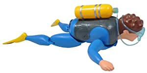 Battery Operated Scuba Diver Bath Toy - Swims and Crawls!