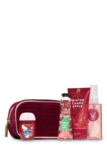 Bath and Body Works Winter Candy Apple Holiday Mini Cosmetic Bag Gift Set. ()