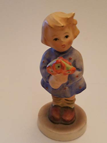 Vintage Old Fashion Little Girl Holding Flowers Figurine: Goebel W.Germany (not Perfect, Some blemishs