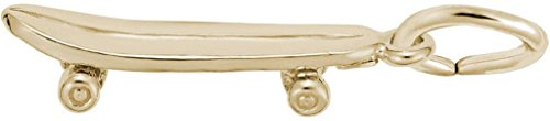 Rembrandt Skateboard Charm - Metal - 14K Yellow Gold