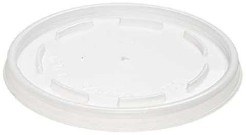 Dart 16JL Translucent Vented Lid for Foam Cups and Containers (Case of 1,000) - Dart Vented Lid