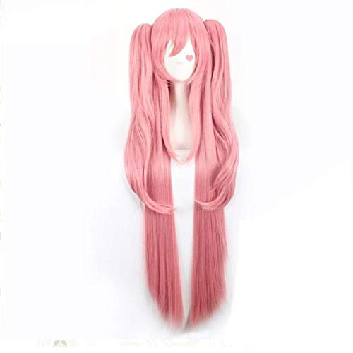 (120Cm Long Pink Straight Cosplay Wig Women'S Seraph Of The End Krul Tepes Synthetic Hair With Double Chip)