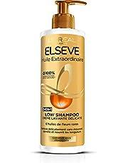 Elsève Low Shampoo Wascrème, 1 x 400 ml