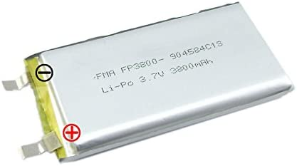 10pcs 9045843.7V 3800mAh LipoバッテリーDIYのポータブル電源銀行no PCM Inside