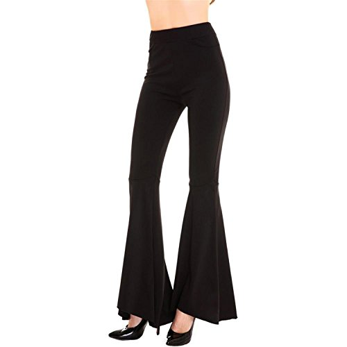 Judith Aponte Women Spring Summer Fashion Solid Black Pants Ladies Elegant Bottom...