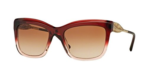 Burberry Women's 0BE4207 Gradient Military Red/Gold/Gradient Brown - Burberry Red Sunglasses