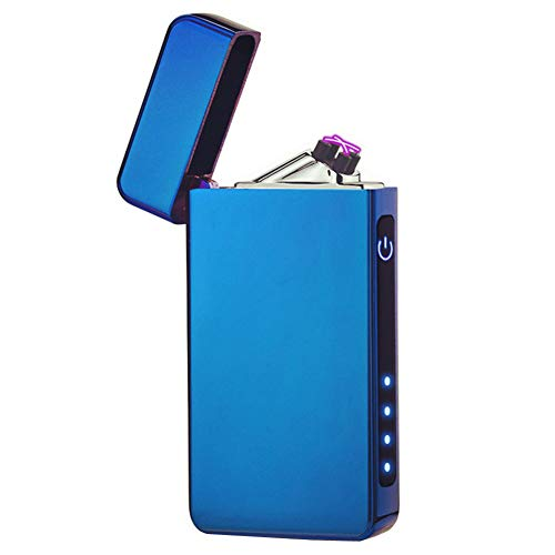 Anyea Dual Arc Plasma Lighter USB Rechargeable Windproof Electric Lighter (Blue)