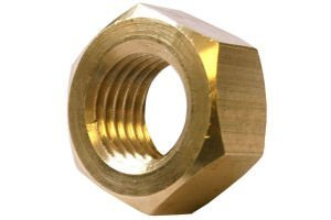 Metric Hexagonal (Hex) Full Nuts Brass Self Colour M4 4mm by AHC