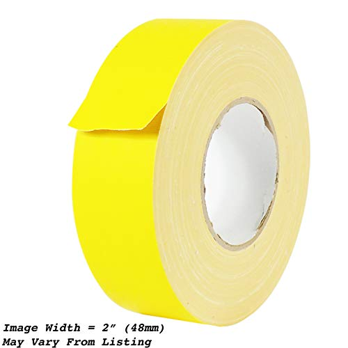 (MAT Gaffer Tape Yellow Low Gloss Finish Film - 3/4 in. x 60 Yards - Residue Free, Non Reflective, Better Than Duct Tape (Available in Multiple Colors))