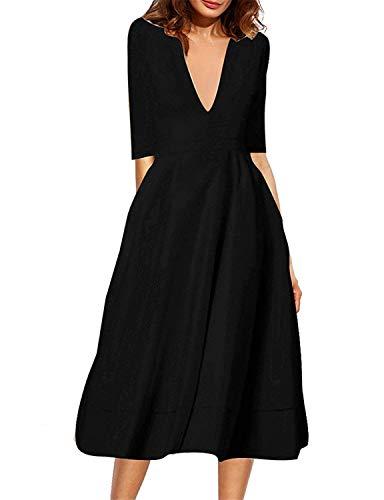 Robert Reyna Fashion Women's Dress with Long Dress XL V-Neck culf Sleeves,XX-Large,Photo8