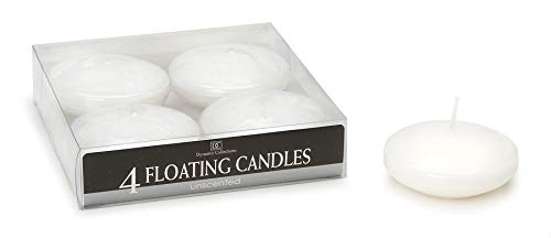 Floating Candles Disk White Unscented 3 inch (8 Pack)