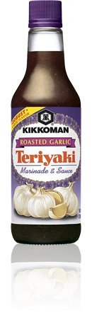 Kikkoman Roasted Garlic Teriyaki Marinade & Sauce -10 oz- Pack Of 3