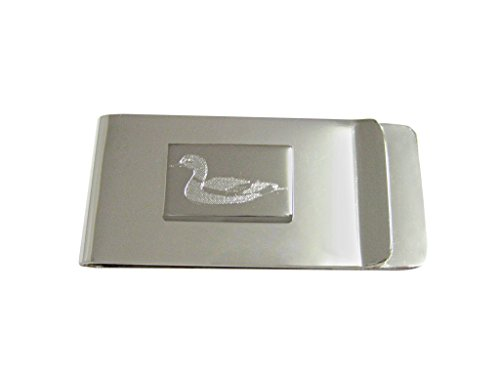 Silver Toned Etched Mallard Duck Money Clip (Duck Clip Money)