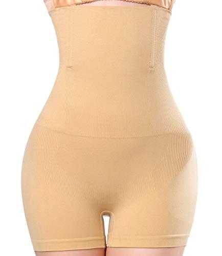 Women Body Shaper Tummy Control Shapewear High Waist Mid-Thigh Slimmer Shorts Underwear Butt Lifter Bodysuit Panties (Beige, XXXL/XXXXL)