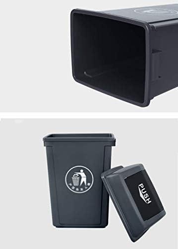 ゴミ箱ふ ゴミ箱、ゴミ箱ふた付き、キッチンゴミ箱家庭用アウトドア家庭用キッチンクリーニング屋外缶厚手のゴミ箱 (Color : Green, Size : 60L)