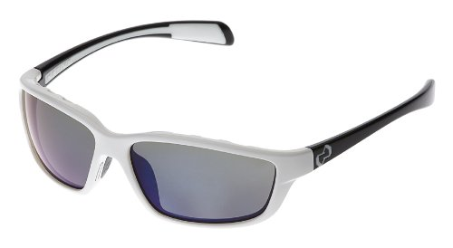 Native Kodiak Polarized Sunglasses, Blue Reflex, White Front/Iron - Sunglasses Marcus