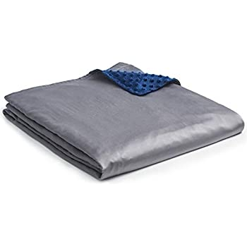 YnM Cooling Bamboo & Cozy Minky Dual-Sided Cover for Weighted Blanket (60''x80'')