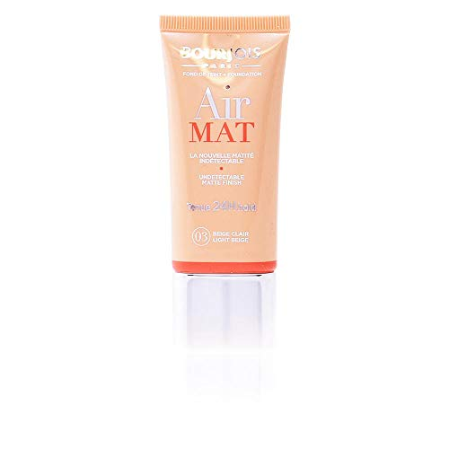 Bourjois Air Mat Undetectable Matte Finish 24H Foundation For Women, 03 Light Beige, 1 Ounce