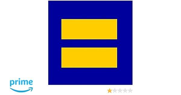 Amazon com lgbt lesbian sticker gay pride human rights eqaulity equal sign marriage decal vinyl bumper flag horizontal stripes prank joke funny décor car