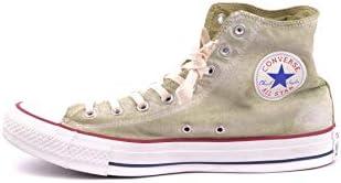 Converse Luxury Fashion Uomo MCBI34260 Verde Tessuto Hi Top Sneakers | Stagione Outlet