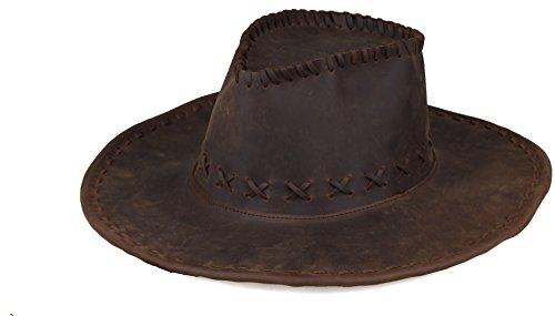 Kissloves Men's Western Cowboy Genuine Leather Adjustable...