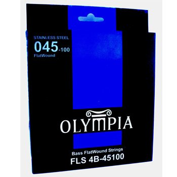 Flatwound bass guitar strings stainless steel by Olympia 45-100 gauge