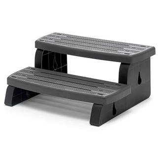 Waterway Plastics 535-2209-GPH Spa Wall Step Assembly Built with 2 Steps, 18 lb, Graphite