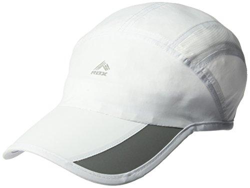 RBX Men's Runner Baseball Cap, Moisture Control Binding, Adjustable, White, One Size