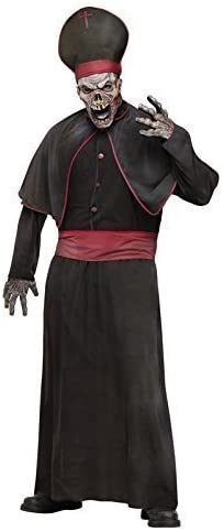 Hombre 6 piezas Zombie Alto cura religioso + Máscara Disfraz de ...