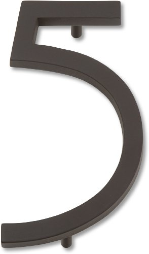 Atlas Homewares AVN5-O Modern Avalon 4.5-Inch No. 5 House Number, Oil Rubbed Bronze