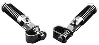 V-Factor O-Ring Footrests Foot pegs Highway Clamp On For All Harley Models Sportster Dyna Softail Fat Boy (O-ring Pegs Footrests)