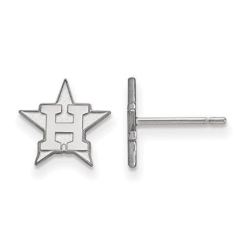 Q Gold MLB Houston Astros 10kw MLB LogoArt Houston Astros XS Post Earrings Size One ()
