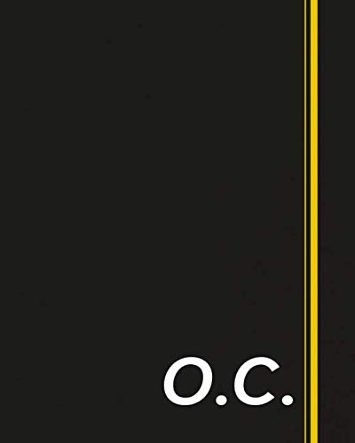 O.C.: Classic Monogram Lined Notebook Personalized With Two Initials - Matte Softcover Professional Style Paperback Journal Perfect Gift for Men and Women (Oc Monogram)