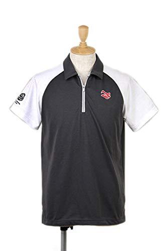 [ジール&シンセリティ] 半袖ハーフジップシャツ ラグランバイカラー メンズ ゴルフウエア L グレー(98) B07NY6W1HN