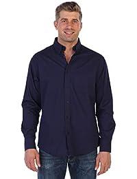 Mens Long Sleeve Casual Twill Shirt