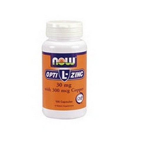 NOW Foods L Opti-zinc, 30mg, 100 Capsules