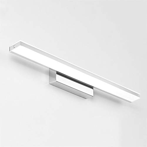 (Mirror Light for Bathroom Simple and modern LED mirror light waterproof fog bathroom wall lamp Bathroom accessories (Color : White Light, Size : 52cm))