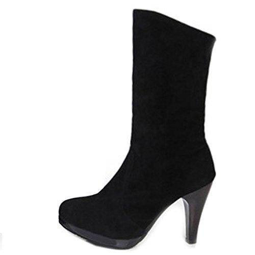 FANIMILA Women High Fashion Pull On High Women heel Boots Autumn Dress Shoes B074L36K6J Shoes 3efa24