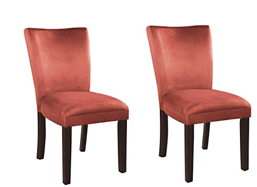 Bloomfield Microfiber Parson Side Chairs Cappuccino and Terracotta (Set of 2)