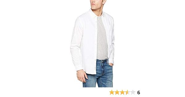 Dockers Textured Dobby Shirt Camisa, Blanco (Paper White), X ...