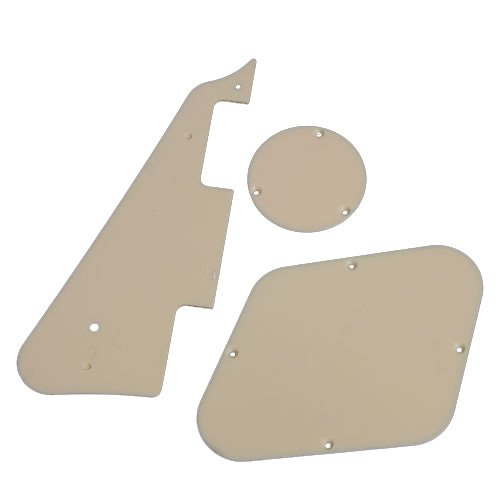 Kmise A0598 5 x Black Guitar Plate/Switch Cavity/Control Cavity Cover for Gibson Replacement
