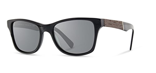 Shwood - Canby Square Acetate & Wood Sunglasses - Black // ()