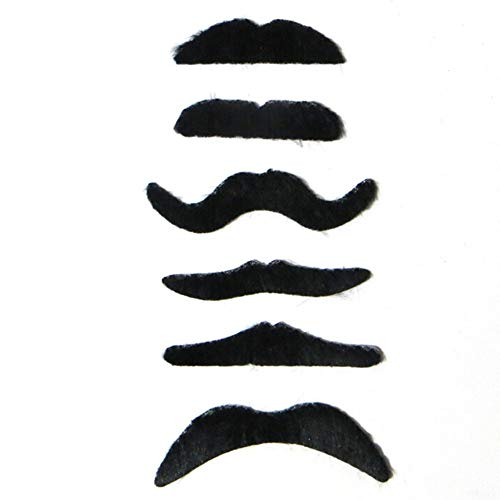 Party DIY Decorations - 6pcs Worldwide Costume Party Halloween Fake Mustache Moustache Funny Beard Whisker - Decorations Daria Decor Lemon Keratin Party Boutique Puff Cute Romper Fake Paper Sw -