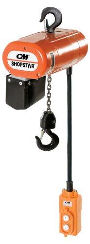 (Cm Columbus Mckinnon 2000 Shopstar Elec Chain Hoist 300lb 115v 16fpm)
